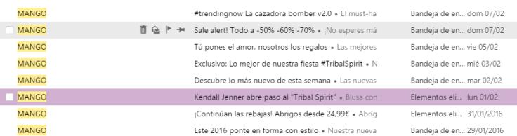 mango newsletter